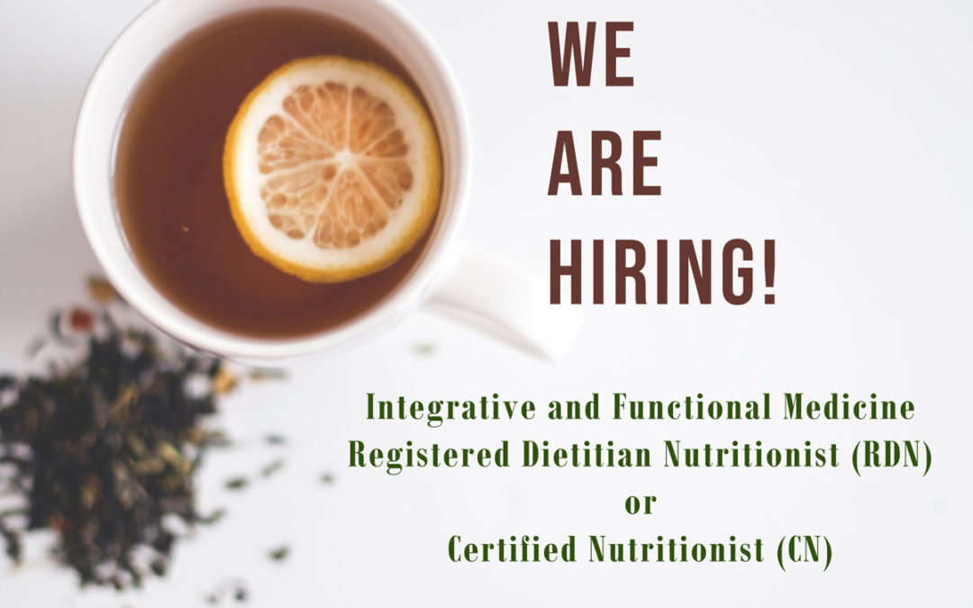 Join us! Seeking Registered Dietitian Nutritionist or Certified Nutritionist We are hiring!
